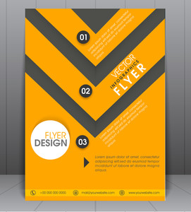 Stylish professional infographic flyer, banner or template design.