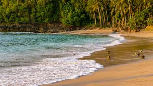 Sunset on Beautiful Crystal Bay , Nusa Penida Bali