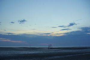 Sunset on Morib beach, Malaysia