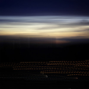 sunset with long exposure effect, motion blurred