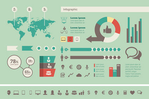 Technology Infographic Elements. Opportunity to Highlight any Country. Vector Illustration EPS 10.