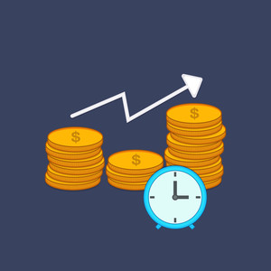 Time is Money concept with creative clock and money showing time management and growth.