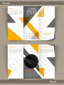 Tri Fold flyer, template or brochure design with proper place hoders for your business content.