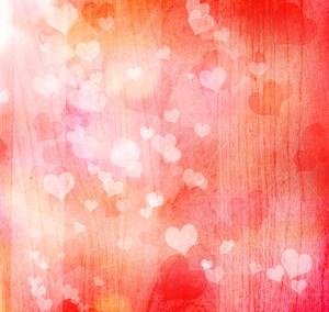 Valentine grunge heart shaped lights background