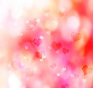 Valentine heart shaped lights background