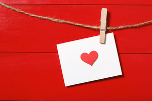 Valentine's day theme with heart greeting card