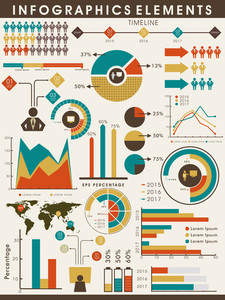 Various business infographics elements collection to fulfill your professional and corporate needs.