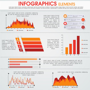Various business infographics elements with place holder for your professional content.