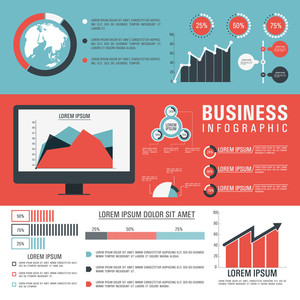 Various statistical infographic elements for your business reports and financial growth presentation.