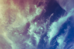 Vintage filtered blue sky with cloud - freedom, free, summer concept