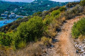 Walking path to Agios Stefanos, Corfu, Greece