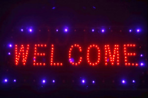 Welcome sign led board