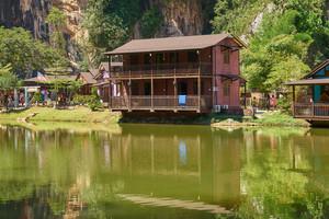 Wooden house at Ipoh Lake, Perak, Malaysia