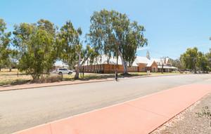 York town street on Sunny Blue Sky Day , Perth ,Australian .