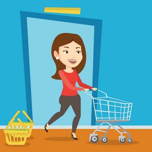 Shopping Trolley Royalty-Free Photos, Illustrations, and Vectors -  Storyblocks