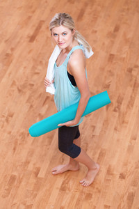 Young fit healthy woman ready for a workout