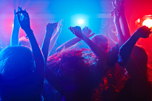 Young people getting more and more uninhibited dancing