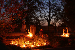 Graveyard And Candles