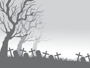 Graveyard Background For Halloween