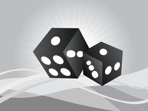 Gray Abstract Vector Dice