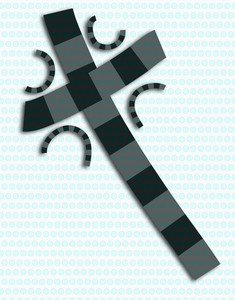 Gray And Black Abstract Cross