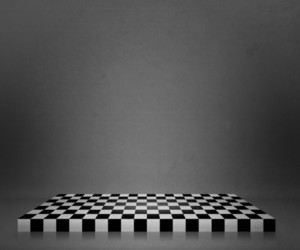 Gray Chessboard Stage Background