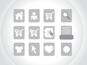 Gray Icons Vector