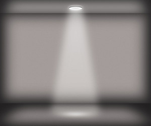Gray Single Spotlight Room Background