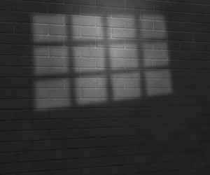 Gray Window Light On Brick Wall Studio Background
