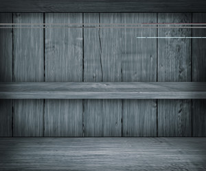 Gray Wooden Shelf Background