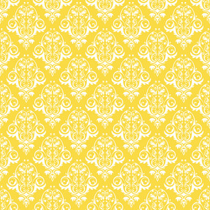 Yellow And White Decorative Pattern
