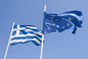 Greek And European Flag