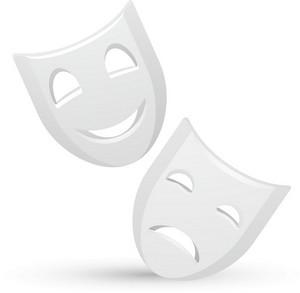 Greek Theater Masks Lite Entertainment Icons