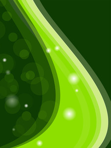 Green Abstract Background - Vector Illustration.