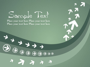 Green Abstract Element Arrow Background