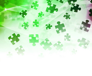 Green Abstract Puzzle Background