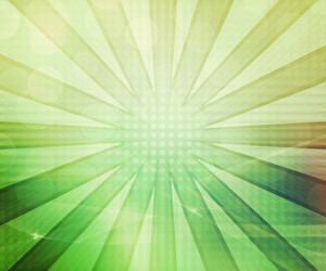 Green Abstract Rays Background