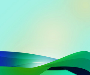 Green Abstract Shapes Background