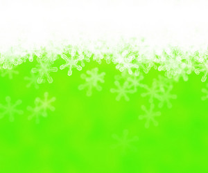 Green Abstract Snow Background