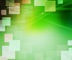 Green Abstract Squares Background