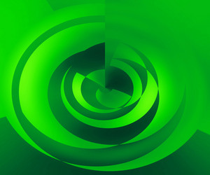 Green Abstract Swirl Background