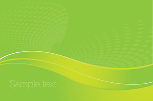 Green Abstract. Vector Background.