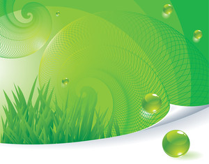 Green Abstract. Vector Template.