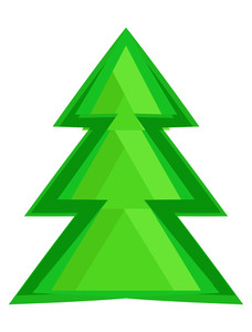 Green Abstract Xmas Tree Design