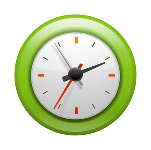 Green Analog Clock