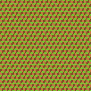 Green And Brown Cube Minecraft Pattern