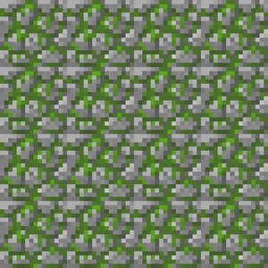 Green And Grey Stone Minecraft Pattern