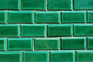 Green Antique Mosaics Background
