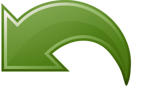 Green Arching Left Arrow