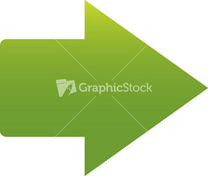 Green Arrow Sign On White Background